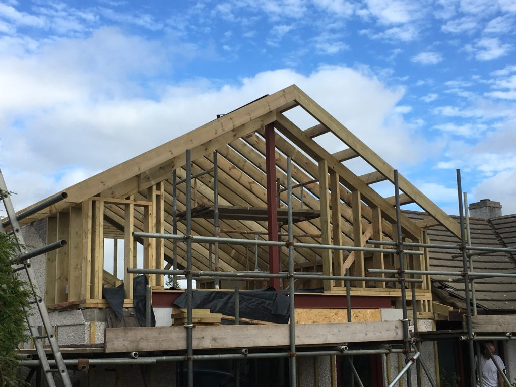 Timber Frame supported by Steel Ridge
